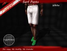 ~Pepper~Men Surf Pants *White*