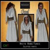 *ROUGH* Gael -White Robe with Hood