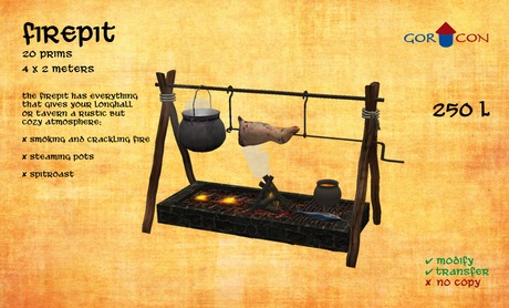 Firepit - Torvaldsland Medieval Rustic Norse Viking Tavern