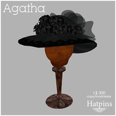 Hatpins - Agatha Hat - Black Mourning