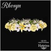 Hatpins - Rhosyn Hair Wreath - Moonlit Flowers