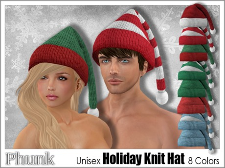 [Phunk] Mesh Holiday Knit Hat (8 Colors)