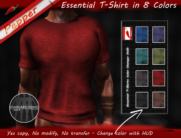 ~Pepper~Essential T-Shirt With Color Change HUD
