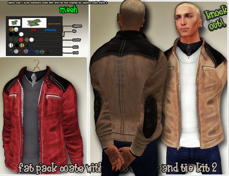 ..::knockout..::FAT PACK COATS WITH SHIRT SUETER AND TIE KIT 2 MESH MEN