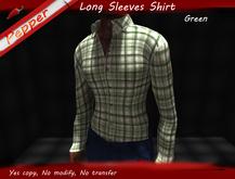 ~Pepper~Long Sleeves Check Shirt *Green*