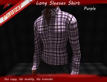 ~Pepper~Long Sleeves Check Shirt *Purple*