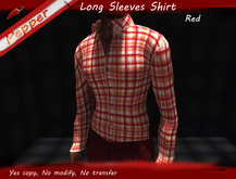 ~Pepper~Long Sleeves Check Shirt *Red*