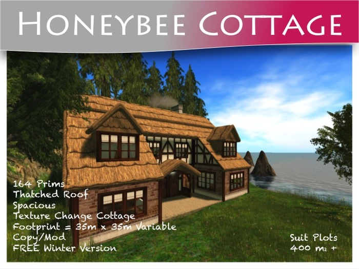 Moco Emporium -  HoneyBee Cottage + FREE Winter Snow Version