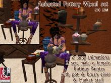 Animated Pottery Wheel set, Pottery Painter & Market stall