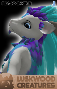 Luskwood Peacock Kirin Avatar - Male - Complete Furry Avatar