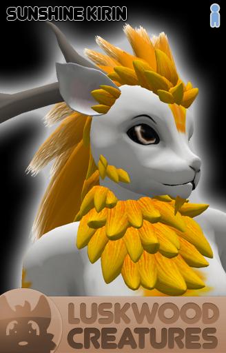 Luskwood Sunshine Kirin Avatar - Male - Complete Furry Avatar