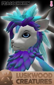 Luskwood Peacock Kirin Avatar - Female - Complete Furry Avatar