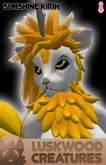 Luskwood Sunshine Kirin Avatar - Female - Complete Furry Avatar