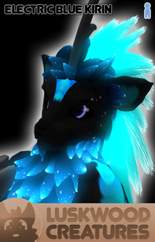 Luskwood Electric Blue Kirin Avatar - Male - Complete Furry Avatar