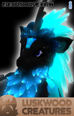 Luskwood Electric Blue Kirin Avatar - Male - Complete Furry Avatar