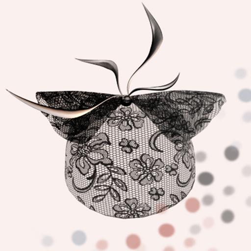 *LODE* Hat - Binny [black lace]