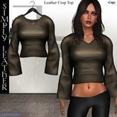 DE Designs - Simply Leather - Crop Top - Old Leather