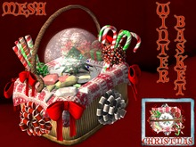 %ChimHair% Mesh + Specular Map Winter Basket Christmas Snow Globe Candy Cane Chocolate Present & Bow (BOX)