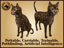 VKC® Ginger Cat - Artificially Intelligent (AI) Trainable Pathfinding Cat - No Food Required - Virtual Kennel Club Dogs