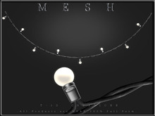T-3D Creations [ BULB DISPLAY No.3 - Curve Wire - ] MESH - Full Perm -