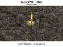 MD Gold Wall Torch