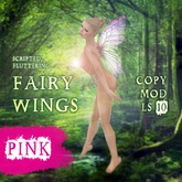 Scripted Fairy Wings - Butterfly Pink