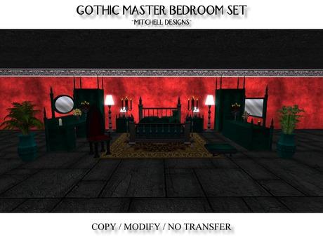 MD Gothic Master Bedroom Set