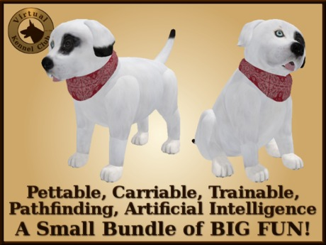 VKC Fir Puppy (Mixed Breed) - Artificially Intelligent (AI) Pathfinding Trainable Dog - No Food Required - VKC Dogs