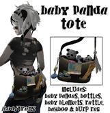 .:-CatniP-:.  Baby Panda tote , Panda Diaper Bag