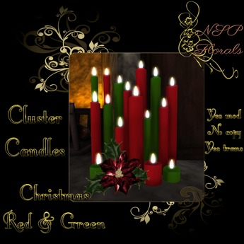 NSP Cluster Candles (Christmas Red & Green) boxed