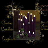 NSP Cluster Candles (Eggplant) boxed