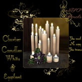 NSP Cluster Candles (White & Eggplant) boxed