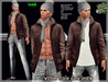 ..::knockout..::winter male dark brown mesh outfit