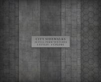City Sidewalks { 20 full perm seamless floor textures }