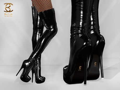 BAX Regency Boots Black Patent Leather