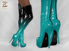 BAX Regency Boots Black-Mint Patent Leather