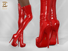 BAX Regency Boots Red Patent Leather