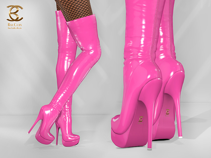 BAX Regency Boots Pink Patent Leather