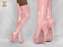 BAX Regency Boots Baby Pink Patent Leather