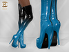 BAX Regency Boots Black-Blue Patent Leather