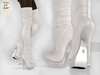 BAX Regency Boots White Suede