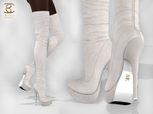 BAX Regency Boots White Suede