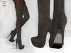 BAX Regency Boots Dark Taupe Suede