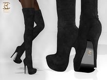 BAX Regency Boots Black Suede