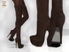 BAX Regency Boots Chocolate Suede