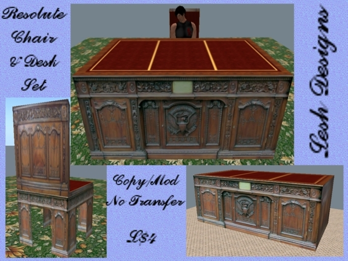 Second Life Marketplace Resolute Desk Chair Set Boxed
