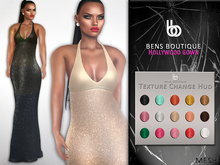 Bens Boutique - Mesh Hollywood Gown (Glitter)
