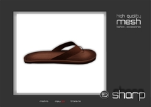 sharp by [ZD] - MESH - Coolest Leather Flip-Flops