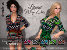 DEMO *Soulglitter* Elegance Outfit - Wrap Dress with Boots incl. Lola appliers