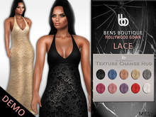 Bens Boutique - DEMO Mesh Hollywood Gown (Lace)